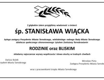 Zmarł Stanisław Wiącek, były wiceprezydent Tarnobrzega