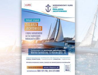 Weekendowy kurs na stopień żeglarza jachtowego